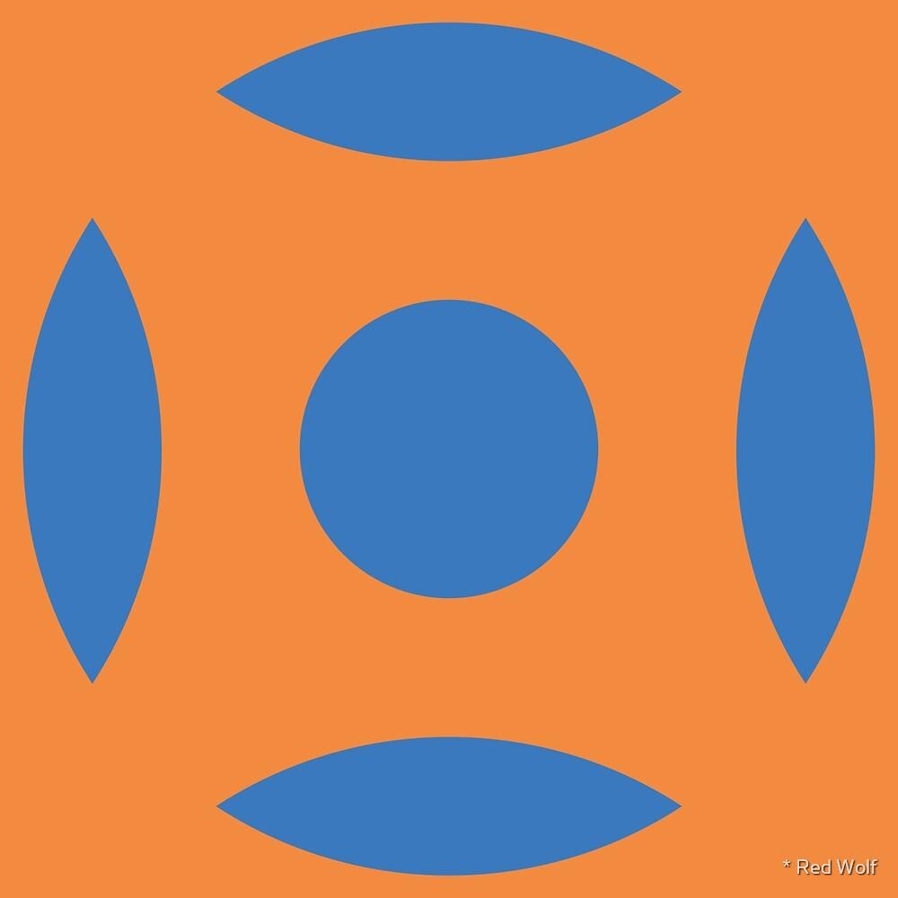 Geometric Pattern: Intersect Circle: Sunset Dramatica by * Red Wolf