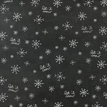 Chalkboard Let It Snow by joshbar