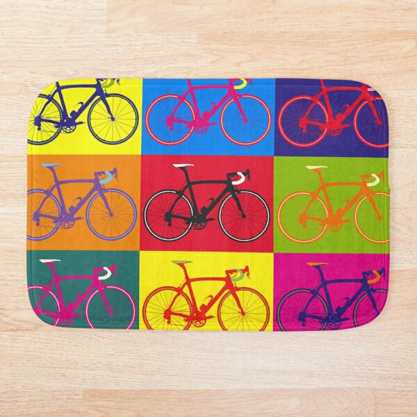 Bike Andy Warhol Pop Art Bath Mat