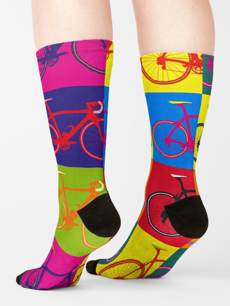 Alternate view of Bike Andy Warhol Pop Art Socks