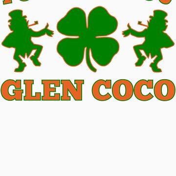 You Go Glen Coco Lucky Clover St Patricks Day T Shirt by xdurango