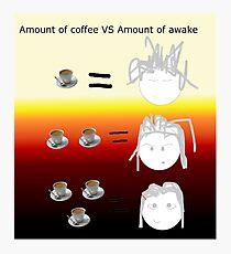 Amount of coffee vs amount of awake Photographic Print
