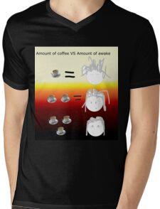Amount of coffee vs amount of awake Mens V-Neck T-Shirt