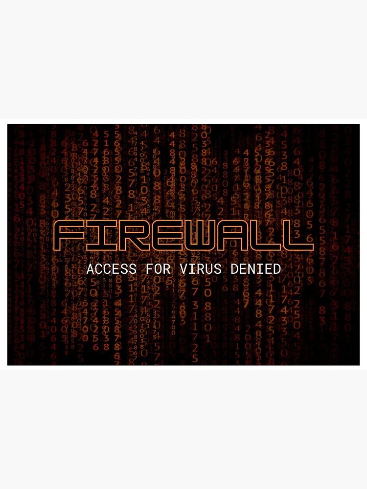 Firewall Orange by NeuralNine