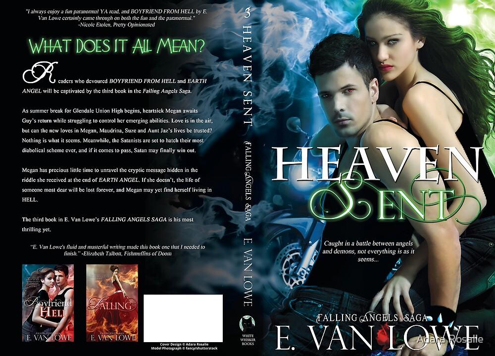 Heaven Sent Book Cover Jacket Design by Adara Rosalie
