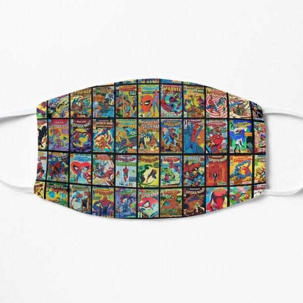 Vintage Superhero Comic Book Collection Pattern 3 Flat Mask