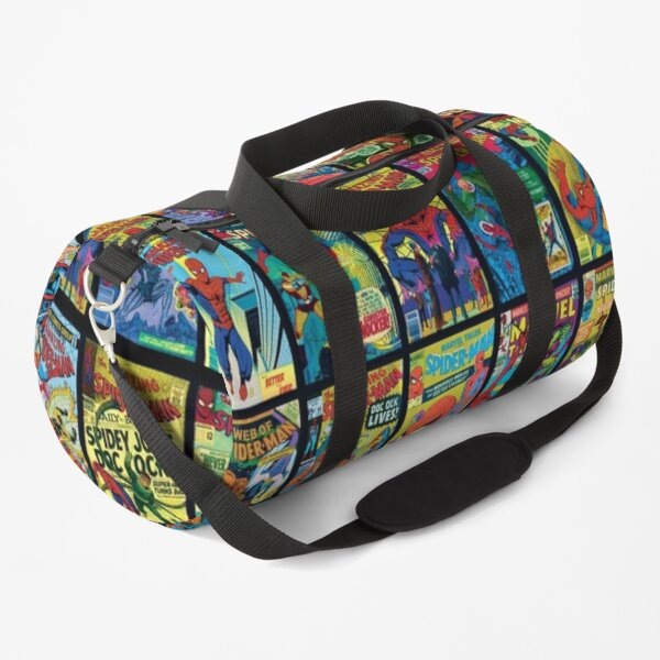 Vintage Superhero Comic Book Collection Pattern 3 Duffle Bag