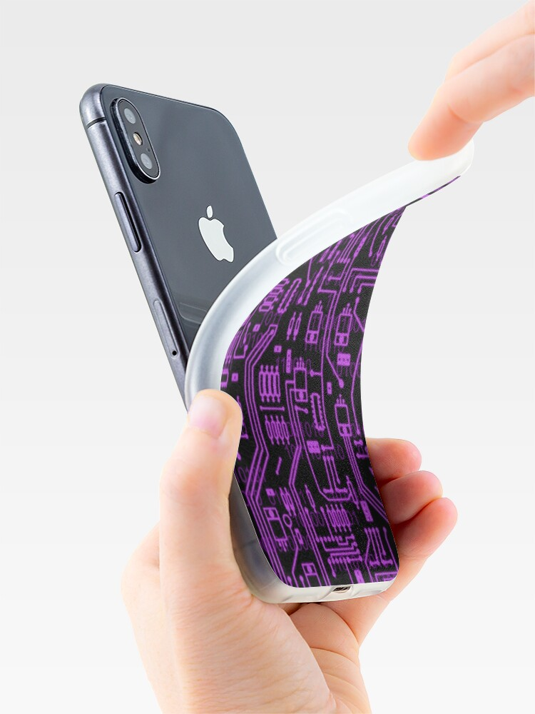 Alternate view of Cyber Circuits iPhone Case & Cover