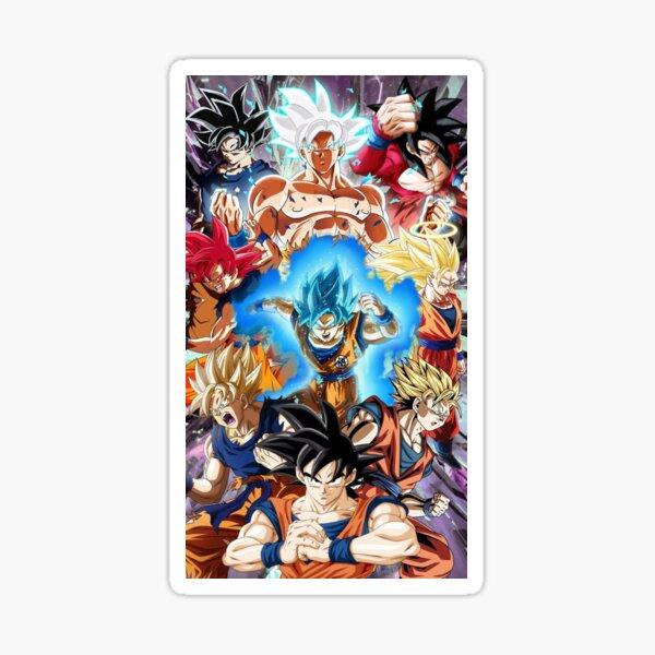 Goku all forms Sticker