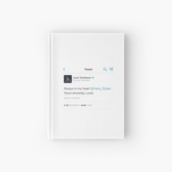 larry stylinson - always in my heart tweet Hardcover Journal