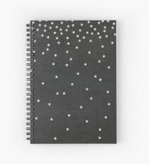 Chalkboard Falling Stars Spiral Notebook