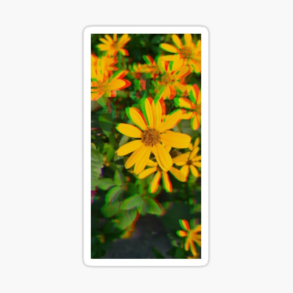 Sunflower Glitch  Sticker