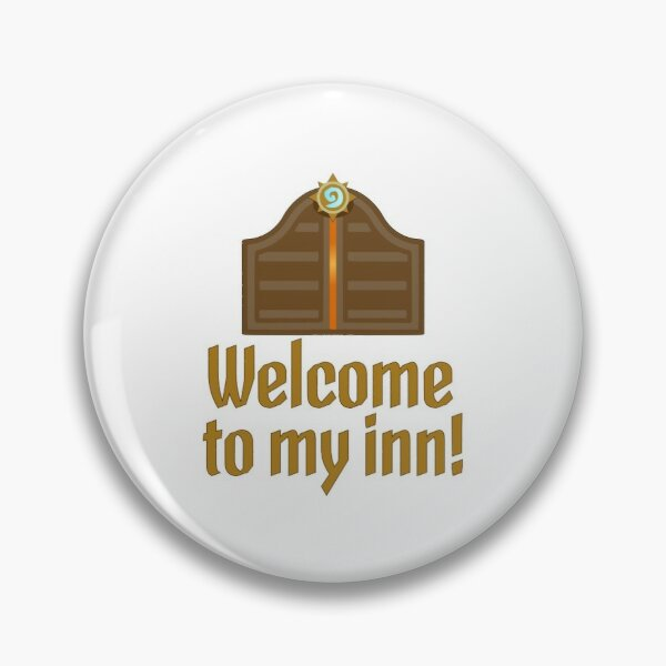 Hearthstone Tarven Door Innkeeper Welcome to my inn Pin