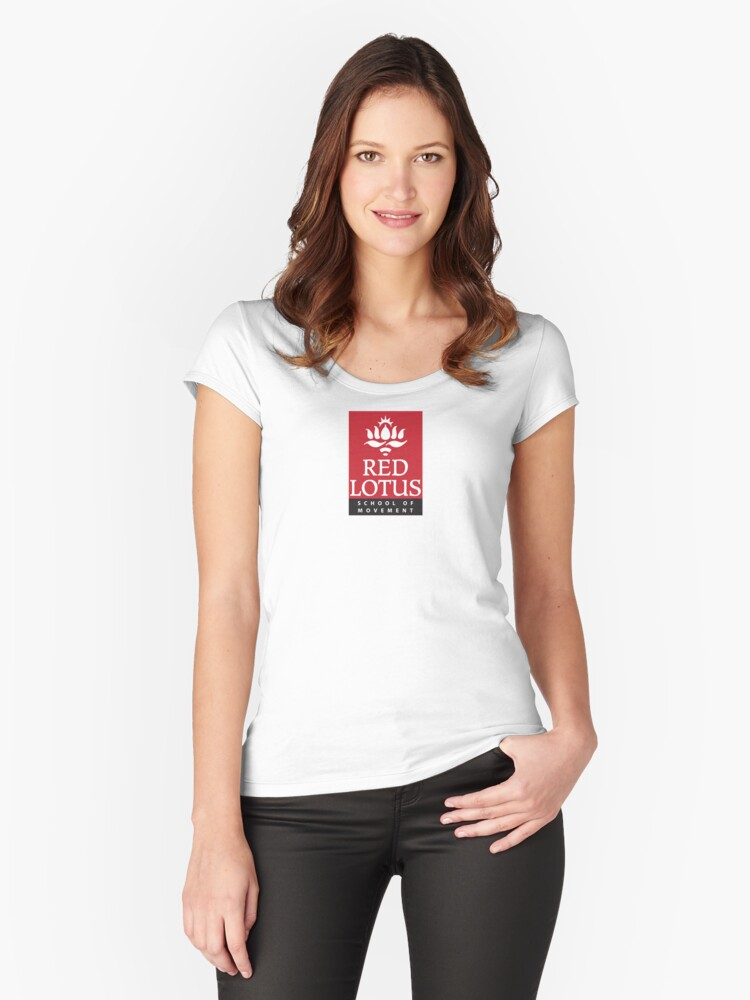 Red Lotus School (Full logo, small) Women's Fitted Scoop T-Shirt Front