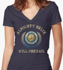 Helix Will Prevail Women's Fitted V-Neck T-Shirt