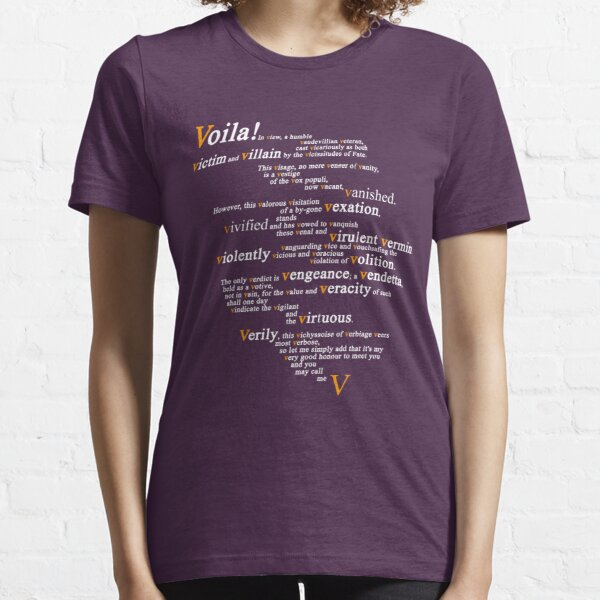 V For Vendetta - You Can Call Me V Essential T-Shirt