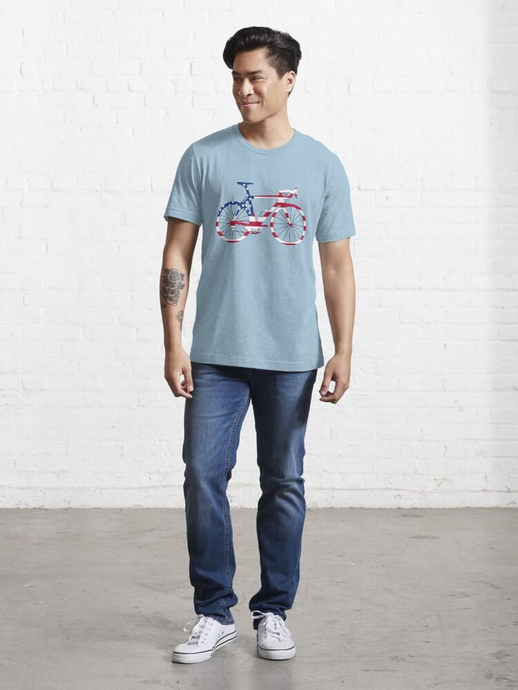 Alternate view of Bike Flag USA (Big) Essential T-Shirt