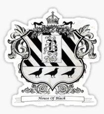 House of Black  Sticker