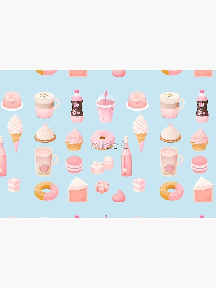 Japanese Sakura Pink Themed Dessert Set by NiftyTrinket