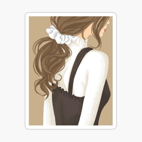 Ponytail Sticker