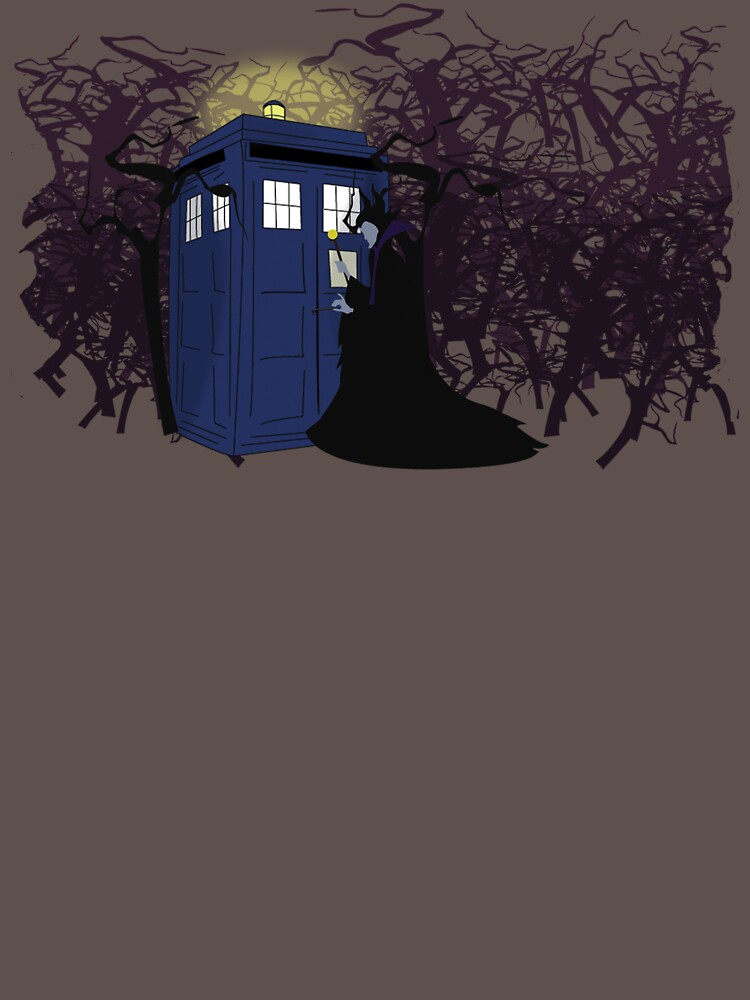 Maleficent and the Tardis | Unisex T-Shirt