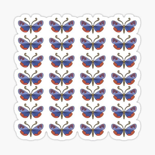 Butterflies, Colorful Butterfly, Moth pattern Sticker