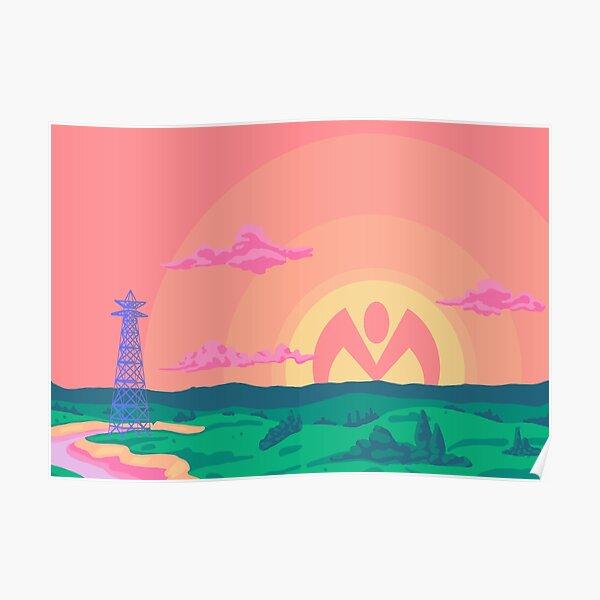 Coucher de soleil Morioh Poster