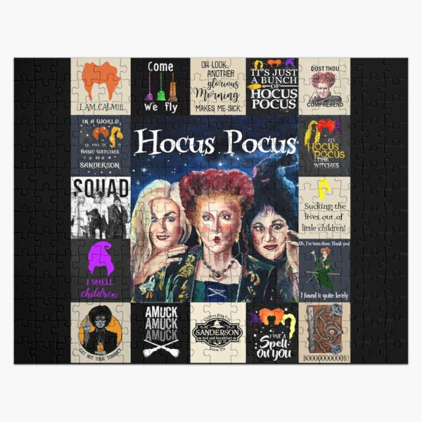 Hocus Pocus I Smell Children I Put A Spell On Jigsaw Puzzle