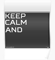 CSGO Console KEEP CALM AND voice_enable 0 Poster