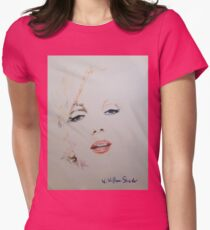 Marilyn, Charcoal and Pastel Womens Fitted T-Shirt