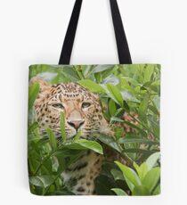 Peek A Boo Leopard Tote Bag