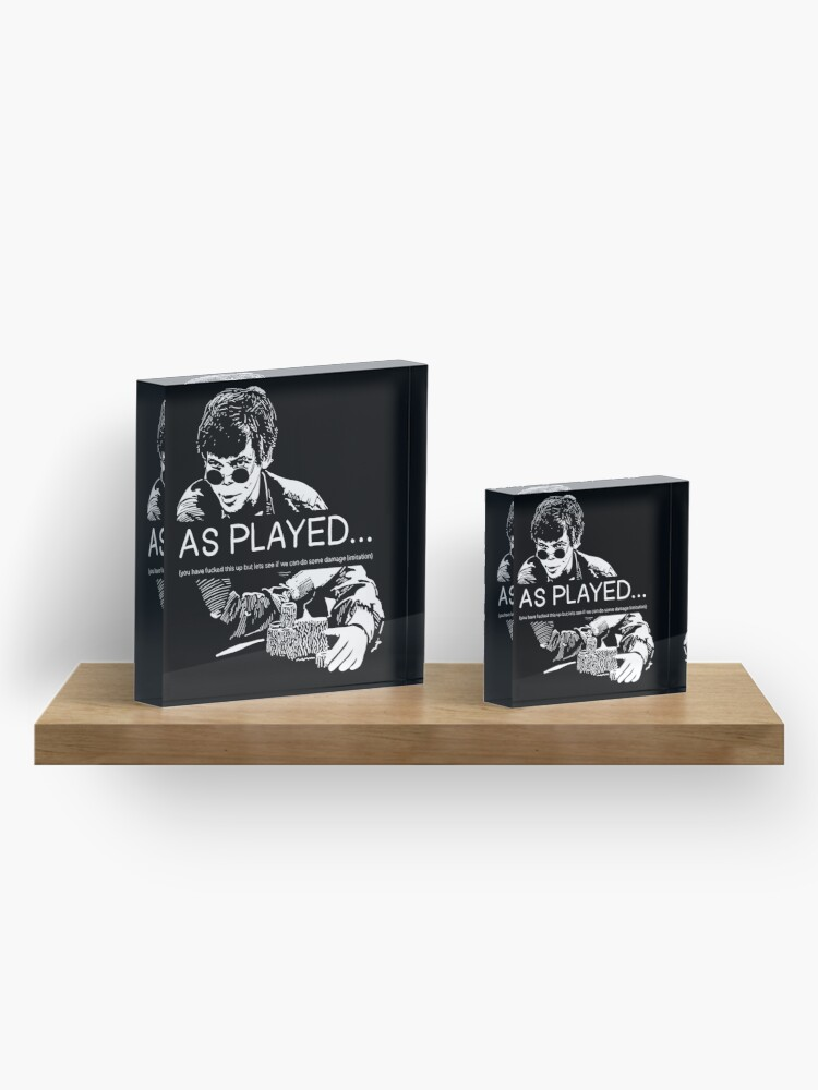 Alternate view of As Played... Acrylic Block