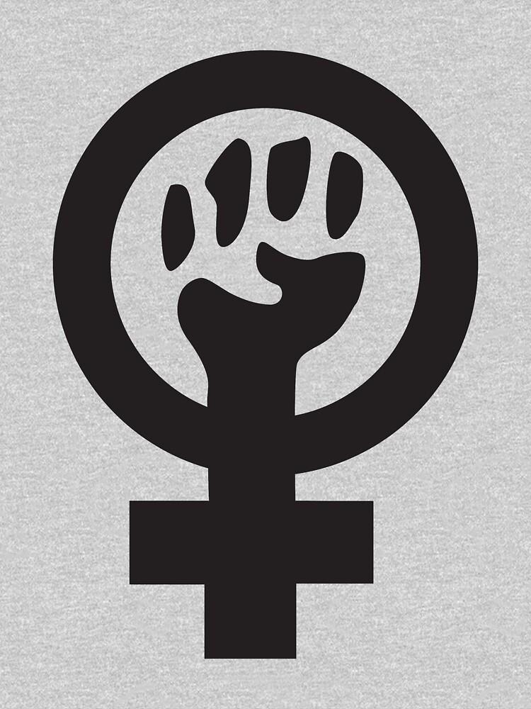 Feminist (black)   V-Neck