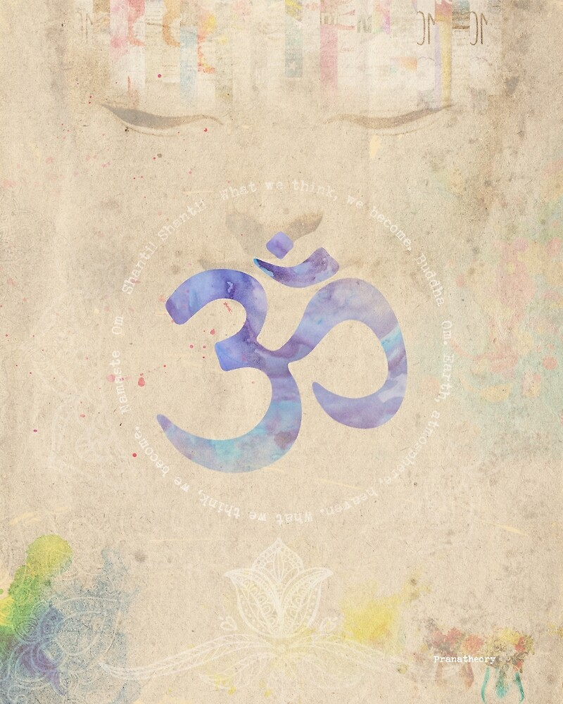 Om old book water by Pranatheory