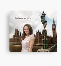 Kate Middleton and the Houses of Parliament Canvas Print