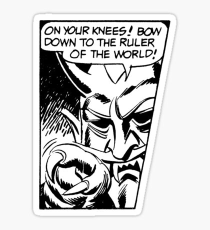 On Your Knees! Sticker