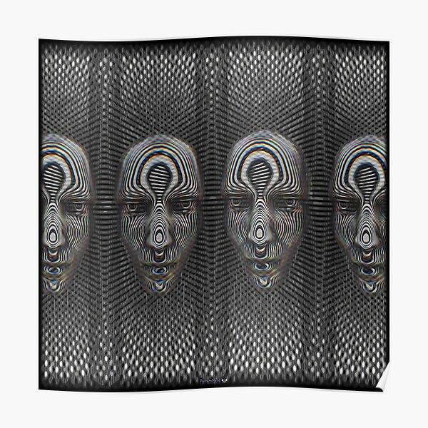 3D Stereogram Facial Poster