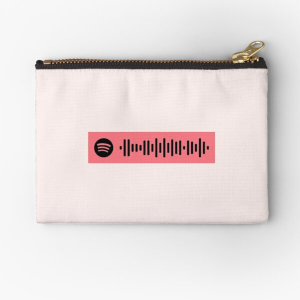 3 musketeers Spotify Scan Code Zipper Pouch