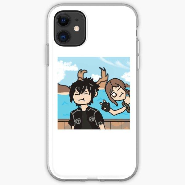 lara photobombs noctis' photo iPhone Soft Case