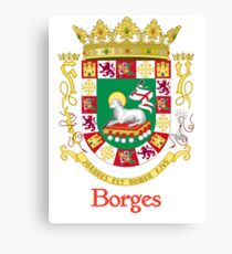 Borges Shield of Puerto Rico Canvas Print