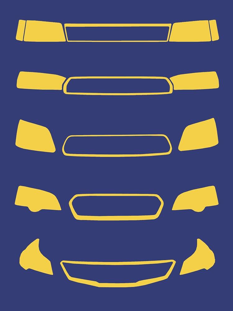 Subaru Legacy Generations | Unisex T-Shirt