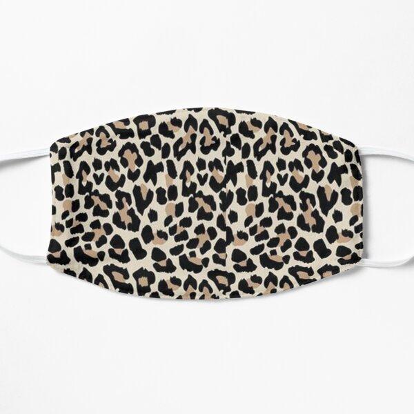 Leopard Print Black Brown Flat Mask