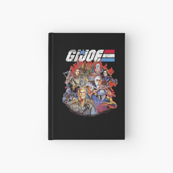 G.I. Joe Group Shot Fade T Shirt Gift For Men and Women, Gift Halloween Day, Thanksgiving, Christmas Day Hardcover Journal