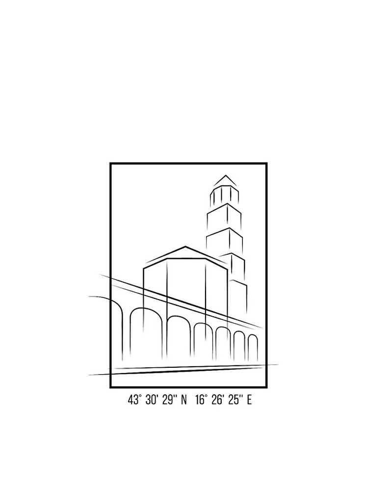 SIMPLE CITY DRAWING | SPLIT, CROATIA by ilcroatia