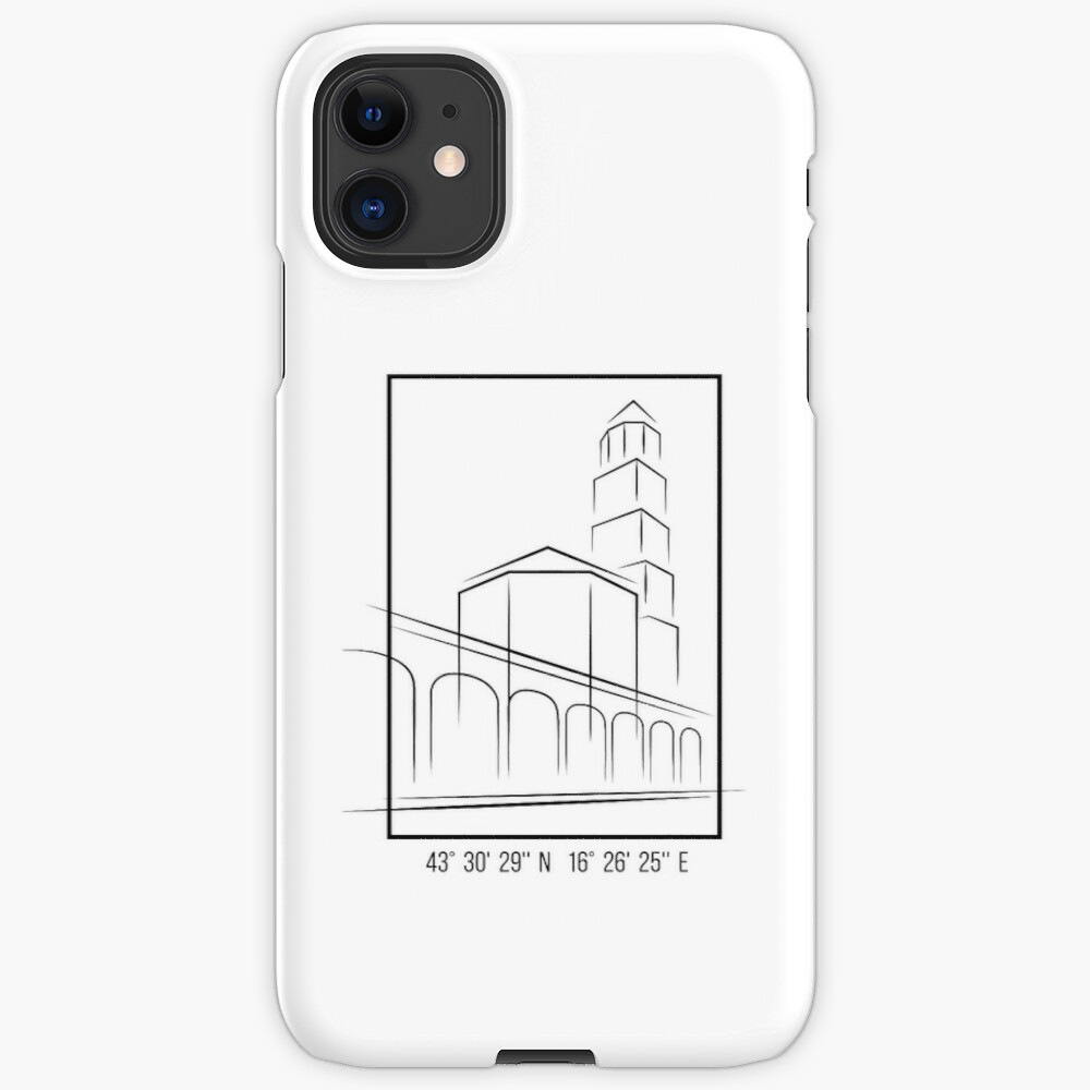 SIMPLE CITY DRAWING | SPLIT, CROATIA iPhone Case & Cover