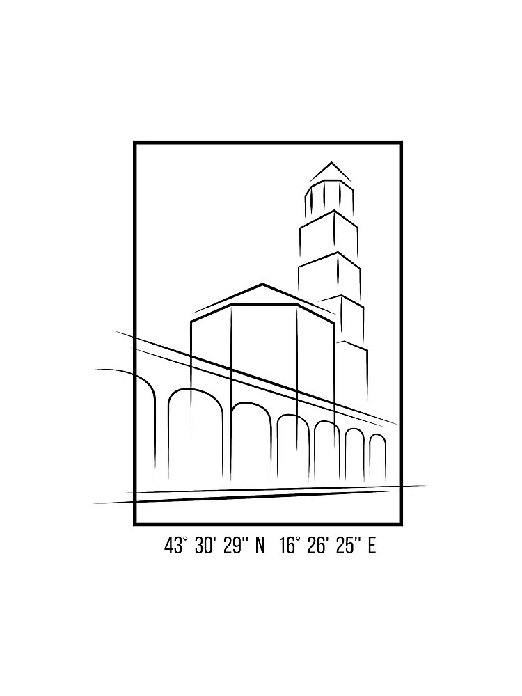 SIMPLE CITY DRAWING | SPLIT, CROATIA by ilcroatia