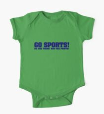 Go sports! Do the thing! Win the points! One Piece - Short Sleeve