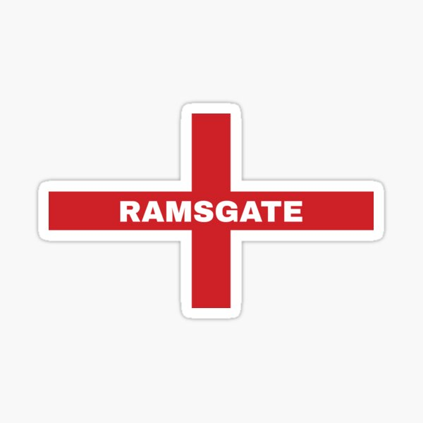 My Home Country Is England and Home City Ramsgate  Sticker