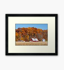 Farmland Autumn Hillside Framed Print
