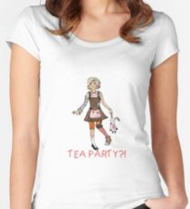 Mothahumpin' TEA PARTY! Women's Fitted Scoop T-Shirt